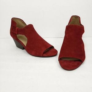 New Eileen Fisher 8.5 Suede Open Toe Shoes Sandals